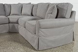 Carlyle Slipcovered 4 Piece Sectional - Right