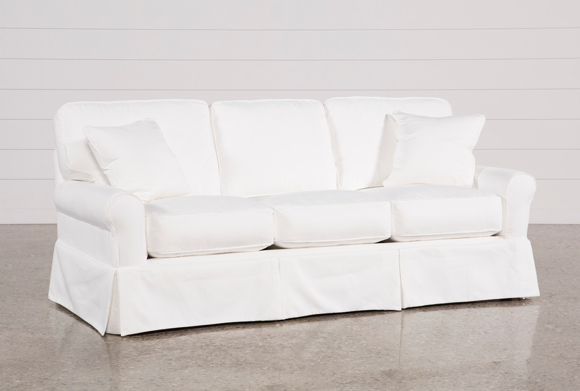 Carlyle Slipcovered Sofa Living Spaces ~ White Slipcovers For Sofa