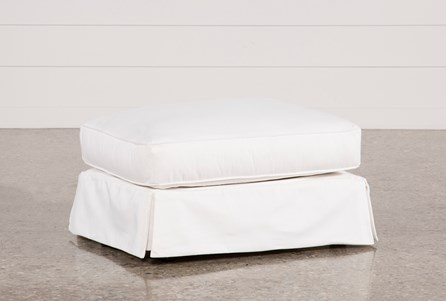 Carlyle Slipcovered Ottoman