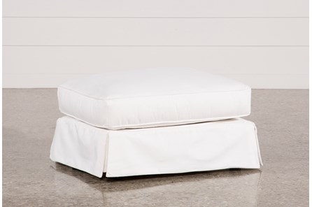 Carlyle Slipcovered Ottoman - Main