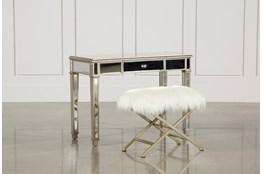 Hayworth Mirrored Vanity Desk Living Spaces