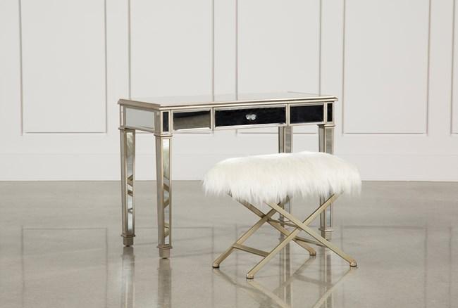 Hayworth Mirrored Vanity Desk W/Bench - 360