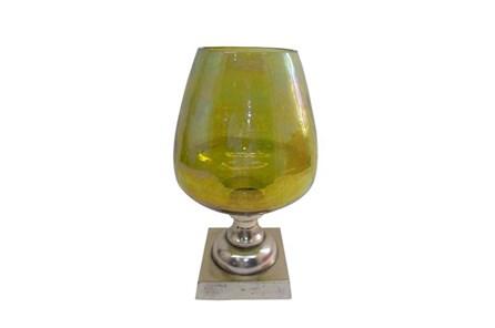 Green Glass Goblet Candleholder - Main