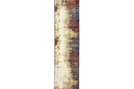 27X96 Rug-Marshall Charcoal And Red