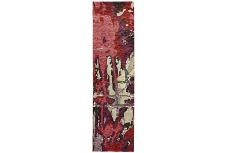27X96 Rug-Marshall Berry And Taupe