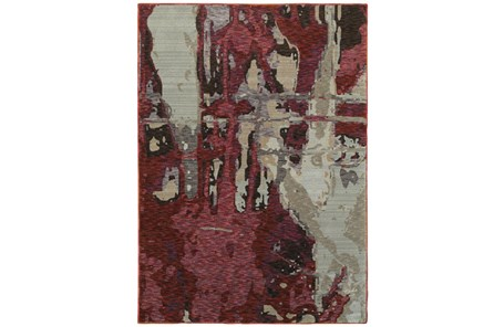 94X130 Rug-Marshall Berry And Taupe