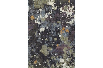 79X114 Rug-Marshall Blue And Fern