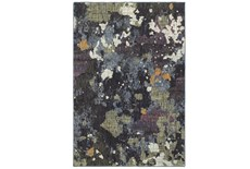 102X139 Rug-Marshall Blue And Fern