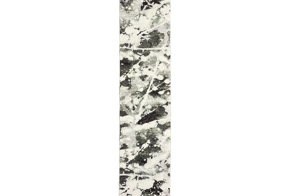 27X96 Rug-Marshall Black And White