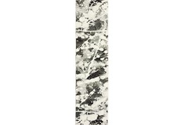 27X96 Rug-Marshall Black And White
