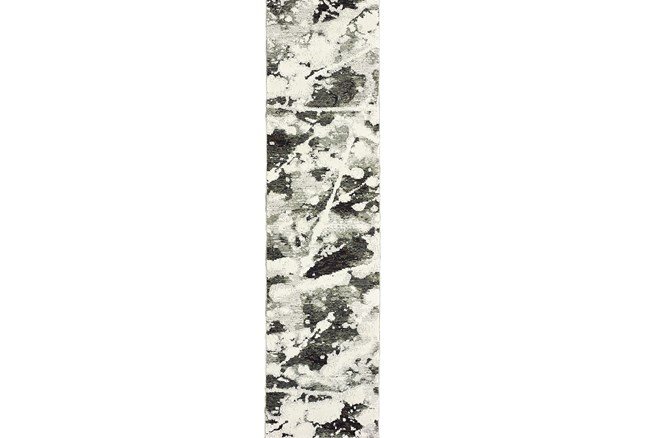 27X96 Rug-Marshall Black And White - 360