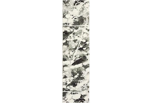 27X96 Rug-Marshall Black And White - 360