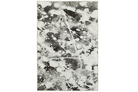 39X62 Rug-Marshall Black And White