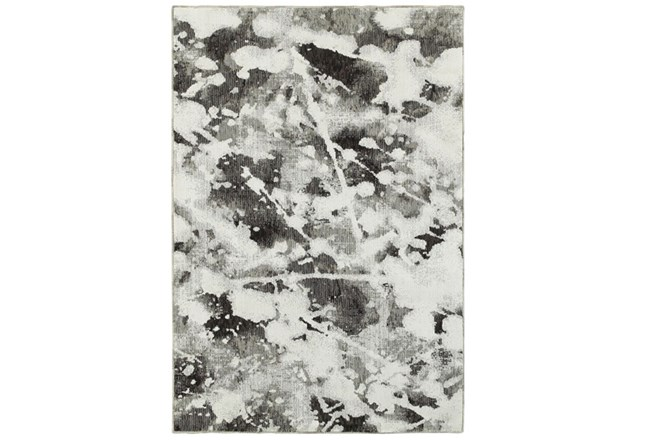 63X87 Rug-Marshall Black And White - 360