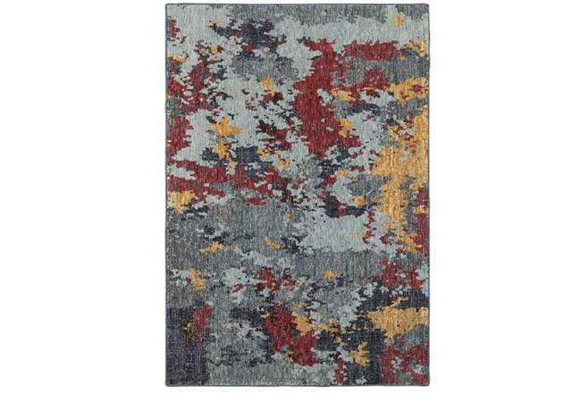 79X114 Rug-Marshall Blue And Berry - 360
