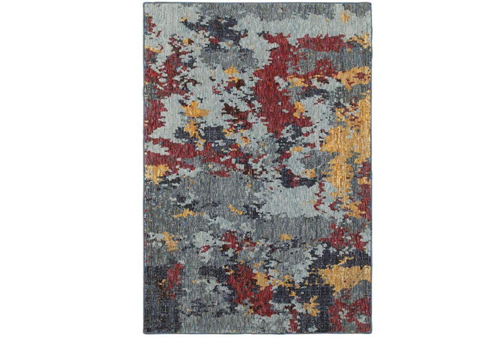 102X139 Rug-Marshall Blue And Berry