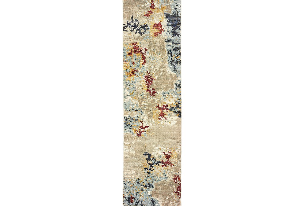 27X96 Rug-Marshall Stone And Blue