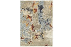79X114 Rug-Marshall Stone And Blue