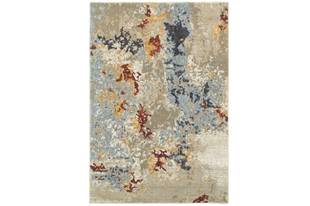 94X130 Rug-Marshall Stone And Blue