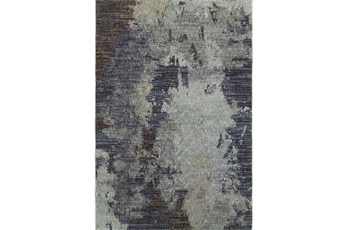 63X87 Rug-Marshall Steel Blue