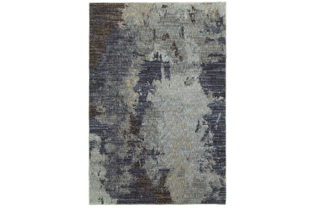 79X114 Rug-Marshall Steel Blue