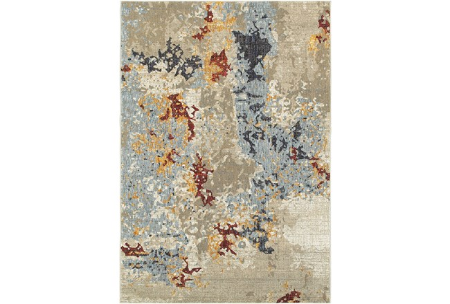 102X139 Rug-Marshall Stone And Blue - 360