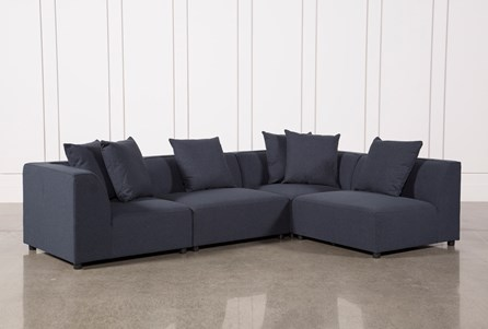Clayton Dark Grey 4 Piece Sectional