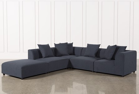 Clayton Dark Grey 5 Piece Sectional