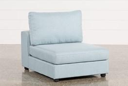 Gabrielle Light Blue Armless Chair