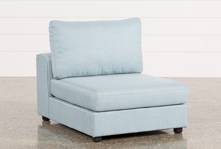 Gabrielle Light Blue Armless Chair
