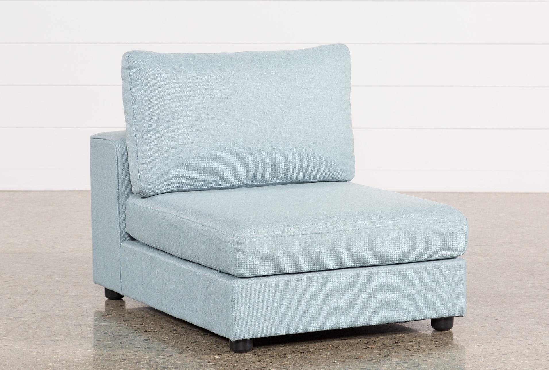 Gabrielle Light Blue Armless Chair   360