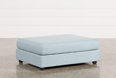 Gabrielle Light Blue Ottoman
