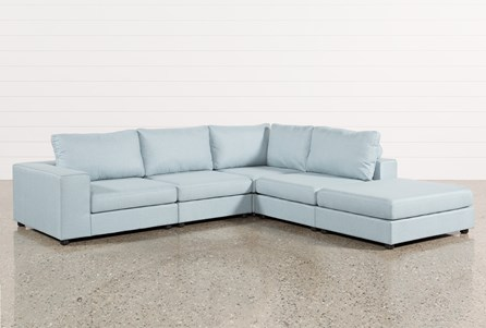 Gabrielle Light Blue 5 Piece Sectional