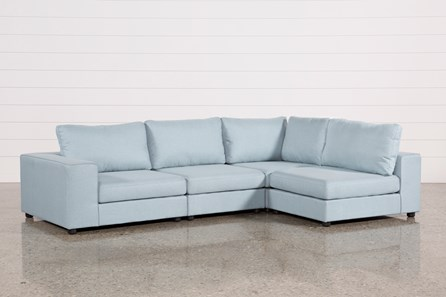 Gabrielle Light Blue 4 Piece Sectional