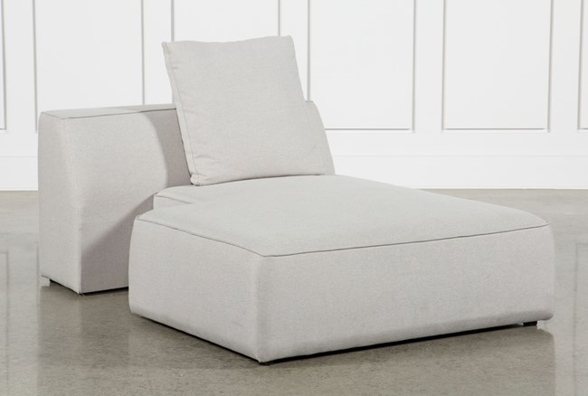 Maggie Light Grey Right Facing Chaise - 360