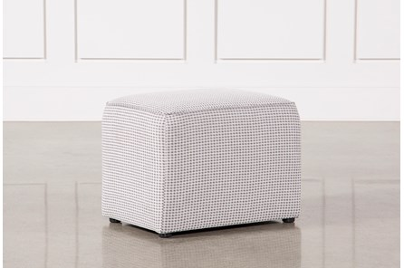 Maggie Plaid Accent Arm Stool - Main