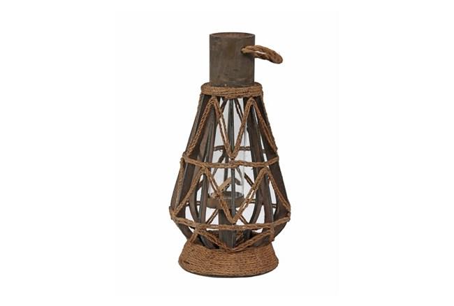 Medium Metal And Rope Lantern - 360