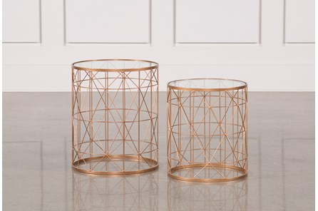 2 Piece Metal Side Tables - Main