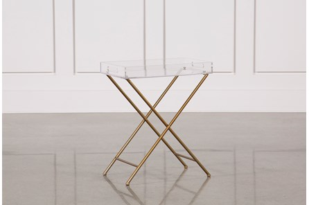 Metal And Acrylic Tray Table - Main
