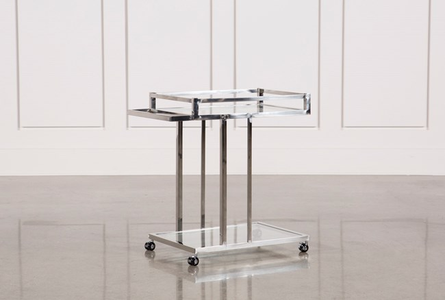 Metal And Glass Bar Cart - 360