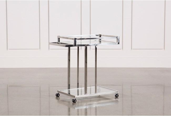 Metal And Glass Bar Cart - 360