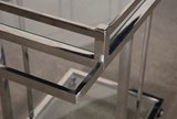 Metal And Glass Bar Cart - Default