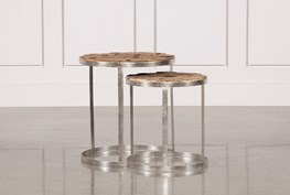 2 Piece Wooden Nesting Tables