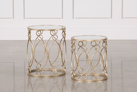 2 Piece Filagree Metal Tables