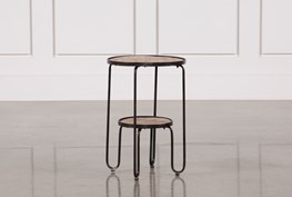 Metal And Wood Accent Table