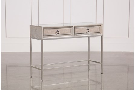Wood And Metal Console Table - Main