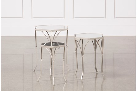 3 Piece Mirror Accent Tables - Main