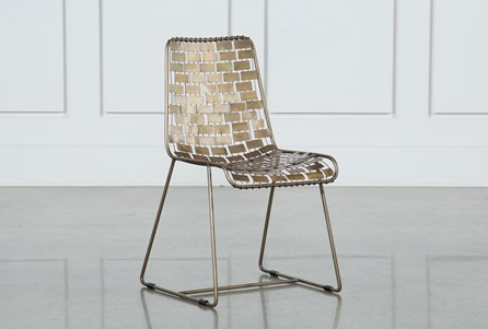 Gold Metal Side Chair