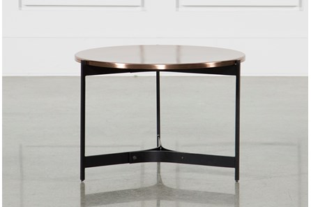 Copper Metal Side Table - Main
