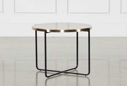 Brass Metal Side Table
